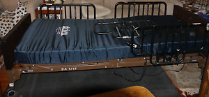 Hospital bed (electric) & mattress, 4 side rails- 3 years old