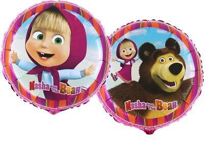 Masha und der Bär Luftballons rund Folienballon Geburtstag Helium Ballon Party