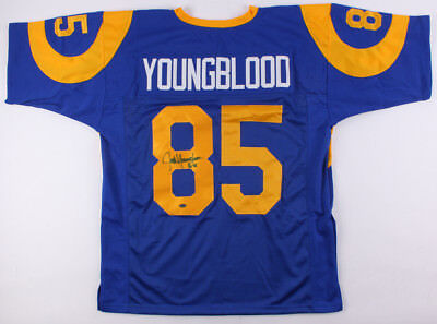 Jack Youngblood Signed Custom Los Angeles Rams Jersey (JSA COA) 7× Pro Bowl D.E. for sale  Oviedo
