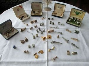 Beautiful Collection of Cuff Links - Tie Clips, Etc.