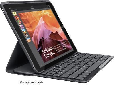 "Logitech iPad Slim Folio Case Bluetooth Wireless Keyboard iPad 9.7"" 5 & 6 Black"