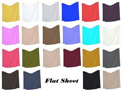 1800 Premier Super Soft Wrinkle Free Brushed Microfiber Flat sheet / Top Sheet
