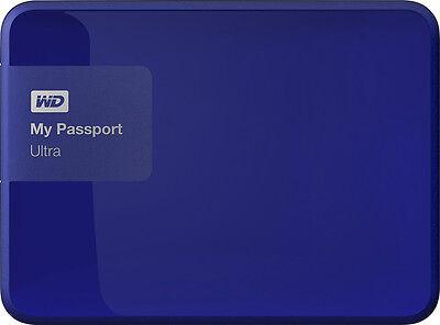WD - My Passport Ultra 1TB External USB 3.0/2.0 Portable Hard Drive - Noble Blue
