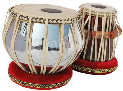TABLA DRUMS SET~PROFESSIONAL 2.5 KG BRASS BAYAN~SHEESHAM WOOD DAYAN~FREE GIG BAG for sale  Shipping to Canada