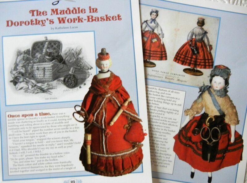 12p History Article + Color Pics -   Antique Sewing Companion Dolls