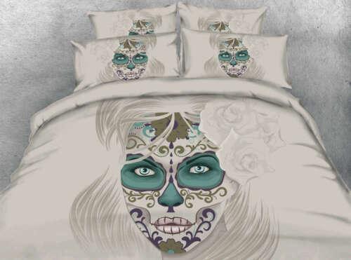 Green Women Eyes 3D Printing Duvet Quilt Doona Covers Pillow