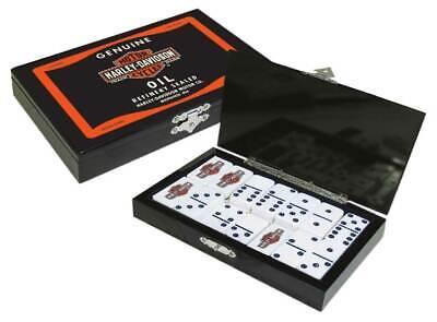 Harley-Davidson Oil Can Bar & Shield Domino Set, Durable Polyester Resin 66919