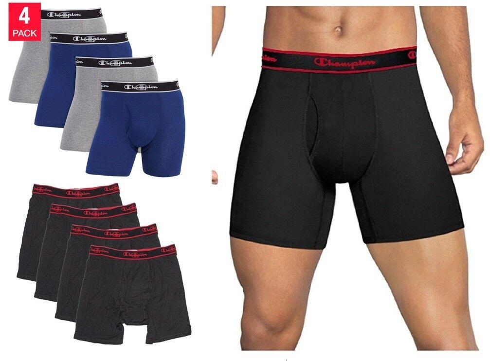 Champion Men's Elite X-Temp Boxer Briefs Random Color 4 Pack