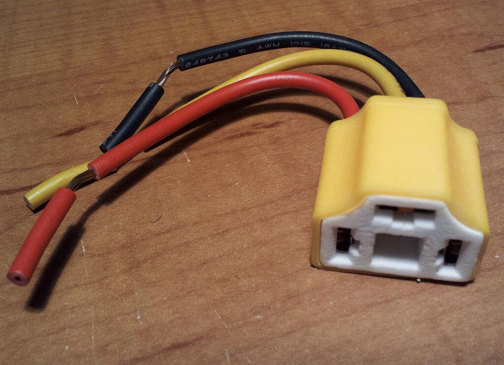 "Chevy 5-3/4"" HI AMP Ceramic Headlight Connector Plug Lamp Bulb Socket NOS Malibu"