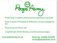 Pet waste removal serivce poops away