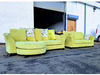 DFS 4 seater corner sofa and 2 seater lime green DELIVERY AVAILABLE