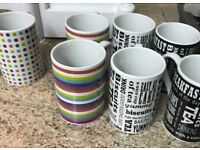 BEAUTIFUL!!! ONLY £5!! New!! DESIGNER STYLE & GOOD QUALITY Mugs! ONLY £5!SET OF 6!!