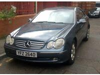 Mercedes Benz CLK 240 Elegance Coupe 2002 2.6ltr Auto 118k miles FULL YEARS MOT 11/01/19 £1595