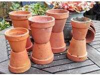 10 terracotta flower pots