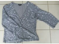 M&S Per Una opaque cover up sparkly sequinned jacket size 18