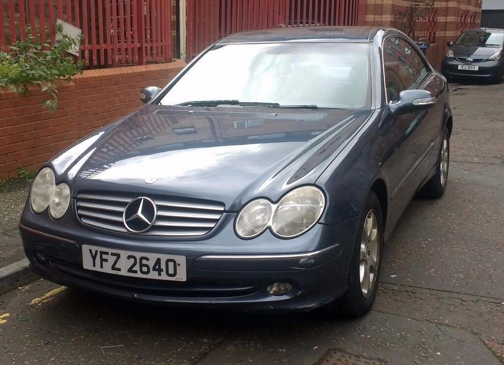 Mercedes Benz CLK 240 Elegance Coupe 2.6ltr Automatic. 2002, 118191 miles, MOT January 2018, £1995