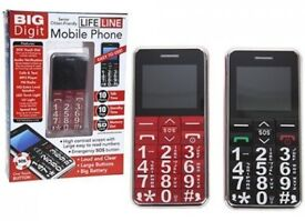 Mobile Phone With Large Number Keys Sos