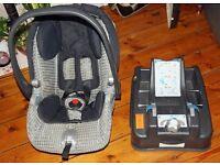 Mamas & Papas Primo Viaggio car seat and seat base £20; Henleaze