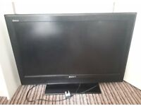 Broken 32 inch SONY Bravia LCD Flatscreen TV