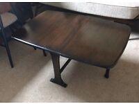 Ercol drop leaf gate leg space saver coffee table