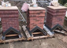 🏠 Smart Stack Brick Effect Single Pot Chimney ~ New