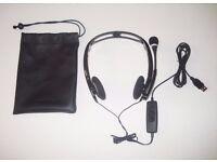 Plantronics Audio 615M Headband Headset - Good Used Condition