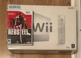 Nintendo wii with one game