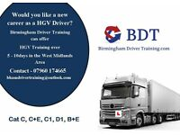 HGV LGV Training in the west Midlands Category's C,C+E,C1,B+E or D1