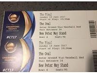2 ICC cricket final tickets 🇵🇰🇮🇳