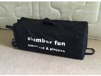 Mothercare Slumber Fun Travel Cot And Playpen In X condition.