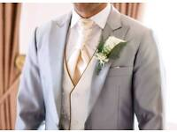 Groom Wedding Suit, worn ONCE, blazer 38 inches, trousers 30-32 waist/30 leg