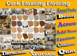 Warm your cold basement 7-15 Celsius with cork flooring and cork underlayment, 100% renewable and  eco-friendly
