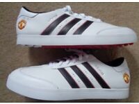 BRAND NEW ADIDAS Manchester United Size 10.5 Rare Deadstock Trainers Golf Shoes