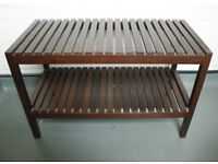 Wooden shoe rack / bench for sale!