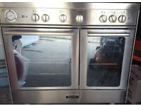 Excellent condition Baumatic freestanding twin cavity gas range cooker with electric grill