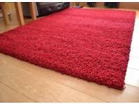 Shaggy plain rug