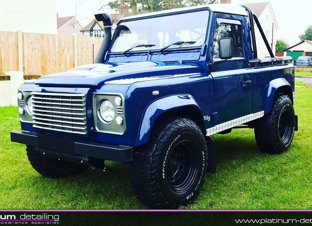landrover defender 90 td5 pick up and full convertible canvas conversion in wirral merseyside. Black Bedroom Furniture Sets. Home Design Ideas