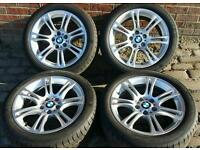 "18"" BMW 5 Series alloys M sport F10 F11 wheels & tyres 2010 2011 2012 2013 2015 2016"