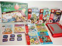 Bundle LeapFrog LeapPad Plus Writing and 9 Books Games Batman Shrek Spongebob Bundle