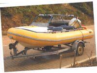 Avon 4.1metre R.I.B plus 50 hp Honda power trim and trailer