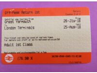 First Class Ticket to London