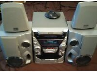 sharp cd-ba1700h stereo system 4.0 (no remote)