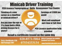 PCO minicab driver licence training - Topographical skills test centre - Uber driver - Chauffeur
