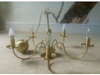 Beautiful satin gold chandelier
