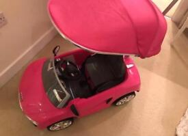 Baby/toddler ride on car/Audi in pink