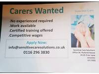 Carers wanted
