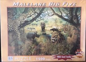 Malelane Big Five 1500 piece Limited Edition Puzzle - Trish Perrevos