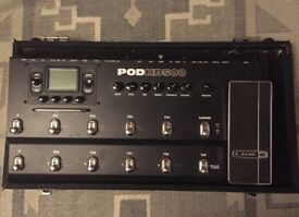 Line 6 Pod HD500 and Diago padded flightcase
