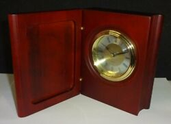 Successories - Wood Wooden Table Desk clock - new in box