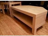 Ikea tv corner unit plus matching coffee table in very good condition